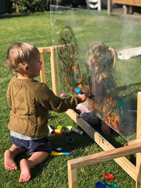 Messy Play Perspex wall