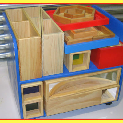 Block Trolley With Puzzles